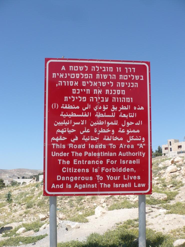 Apartheid road sign