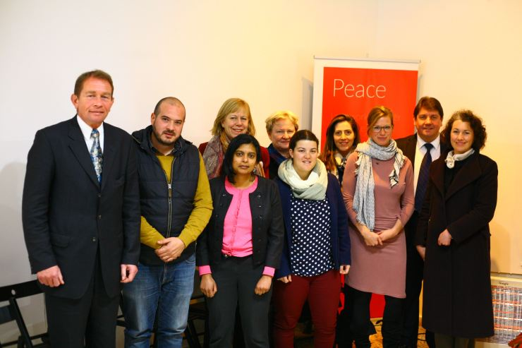 Parliamentary delegation meets young people at Billy Brandt Centre, Jerusalem